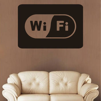 wifi Wall Decal Sticker Wifi Sign Wall Sticker Decorations for Home Coffee Shop Cafe Decor kik2579