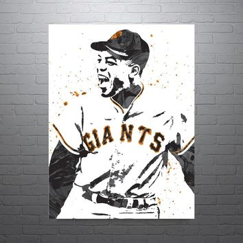 Willie Mays San Francisco Giants Poster