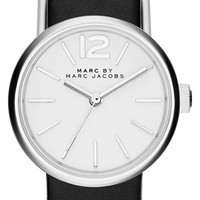Women's MARC BY MARC JACOBS 'Peggy' Leather Strap Watch, 26mm