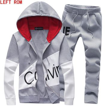 Spring Autumn Hoodie sweater jacket+ joggers sweatpants man printing  suits  sportwear Tracksuit  Fight Color