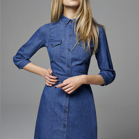 Utility Denim Shirt Dress - Miss Selfridge