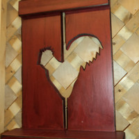 Chicken shutter shelf by Wildoaks on Etsy
