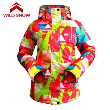 Winter Waterproof Windproof ski jacket  Outdoor Sports Thermal Wear Full Sleeve Hooded Full Clothing Snowboarding Jackets