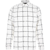 River Island MensWhite and black checked shirt