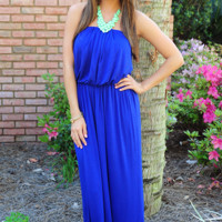 Oh My Heavens Dress: Royal Blue