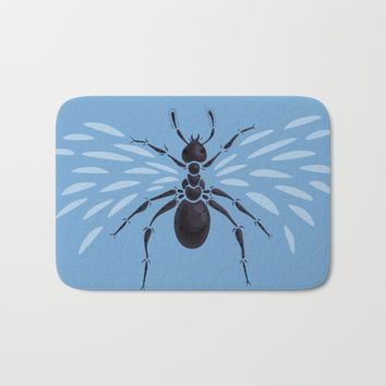 Weird Abstract Flying Ant Bath Mat by Boriana Giormova