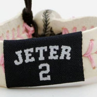 Gamewear MLB Leather Wrist Band - Jeter (Pink)