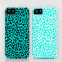 Turquoise Leopard iPhone Cases by M Studio - iPhone 3G, 3GS, 4, 4S, 5, and iPod Touch (Each sold separately)