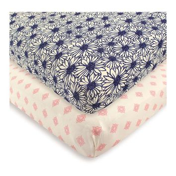 Daisy Organic Fitted Crib Sheet Set
