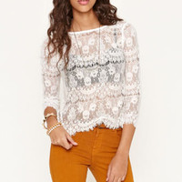 Kirra Lace Back Zip Tee at PacSun.com