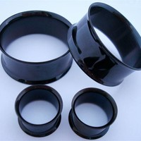 "Black Steel Flared Tunnels (2 gauge - 2"")"
