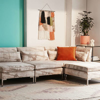 Cecilia Printed Velvet Sectional Sofa | Urban Outfitters