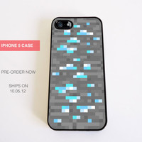 iPhone 5 Case Minecraft inspired Ore diamond for iPhone 5 Case (PRE ORDER)