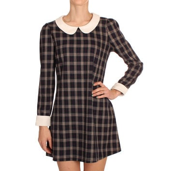 Hearts & Bows Tartan Binki Peter Pan Collar Dress