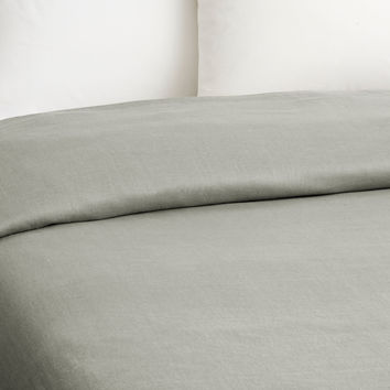 Linen Duvet, Gray, Duvet Covers
