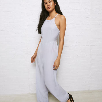 Don't Ask Why High Neck Jumpsuit, Light Blue