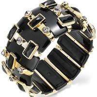 Bar III Bracelet, Gold-Tone Jet Crystal Stretch Bracelet