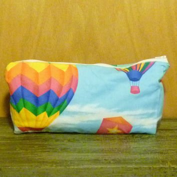 Zipper Pouch/Bag/Toiletries Bag - Fabric Sky Kite Print