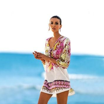 Serpentine Print Cover-up
