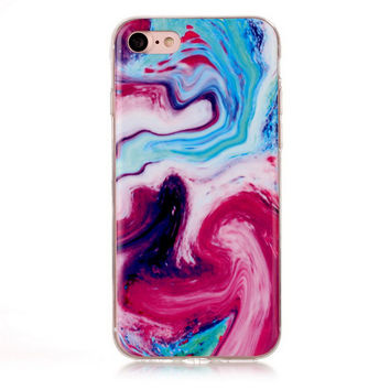 Tie-dyed Marble Stone iPhone 7 7Plus & iPhone 6s 6 Plus Case