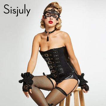 Vintage Corsets Women Gothic Black Sexy Retro Bodycon Lace Up Sheath Club Party Bandage Off Shoulder Bodysuit Corsets