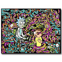 Rick and Morty Art Silk Fabric Poster Print 13x18 24x32 inch Cartoon Wall Picture For Living Room Decor  008