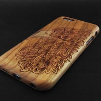 Eagle Head Cherry Wood iPhone 6 Case - Real Wood iPhone 6 Case - Wooden iPhone 6 Case - Natural Wood iPhone 6 Case - Christmas Gift