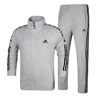 Adidas Fashion Casual Cardigan Jacket Coat Pants Trousers Set Two-Piece