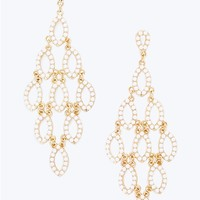 White Teardrop Chandelier Earrings | rue21