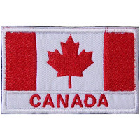 Canada CA Flag Embroidered Patch Velcro For Sport Outdoor Army Baseball Hats