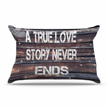 "Suzanne Carter ""True Love"" Contemporary Typography Pillow Sham"