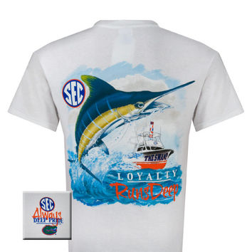 Florida Gators Deep Pride High Tide Loyaty Runs Deep Fish Bright T Shirt