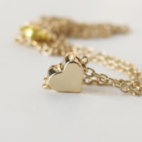 Heart Necklace Heart Jewelry Love Jewelrry Love Necklace Gift For Her Women Jewelry Gift Layering Necklace Petite Necklace Everyday Necklace