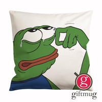 Pepe The Frog Crying Cushion Case / Pillow Case