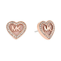 Michael Kors Valentine´s Day Pavé Heart Stud Earrings | Dillards
