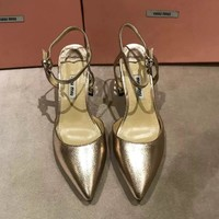 MIU MIU Women Fashion Casual Heels Shoes