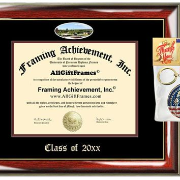 AllGiftFrames Custom Diploma Frame Embossed Frostburg State University Best Graduation Degree Frame Double Mat Campus Fisheye Picture Frame Cheap Degree Certificate Graduate Gift