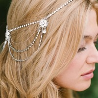 Sara Gabriel 'Madeline' Floral Crystal Hair Chain | Nordstrom