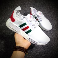 Best Online Sale Gucci x Cucci x Adidas Consortium  NMD R1 White  Boost Sport Running Shoes Classic Casual Shoes Sneakers