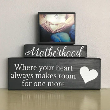 Expecting baby countdown gift, ultrasound pregnancy, congratulations gift, personalized block, mom to be, baby bump, motherhood gift, love