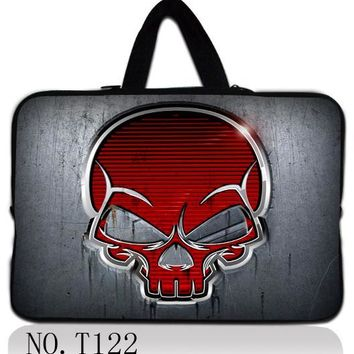 Red Skull multi size computer accessories 10 12/13/14/15/17 inch laptop notebook bag sleeve case for macbook pro/air