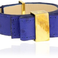 "kate spade new york ""Ostrich Bow Bridge"" Cobalt Colored Bow Bracelet"