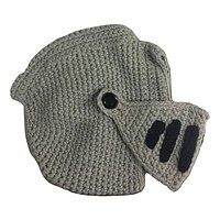 Knight in Shining Armor Knitted Winter Hat and Face Guard