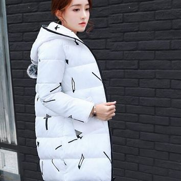 2017 New Winter Women's Cotton Jacket in The Long Section of Students Down Jacket Winter Winter Jacket Jacket 6 color