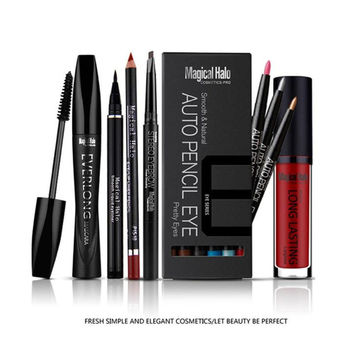1 Set Makeup Set Makeup Combination Lipgloss + Mascara + Eyebrow Pencil + Eyeshadow Pencil + Lipliner Pencil + Eyeliner Z3
