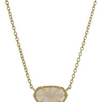 "Kendra Scott ""Signature"" Elisa Gold-Plated Iridescent Druzy Pendant Necklace"
