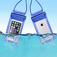 Outdoor PVC Waterproof phone Bag Case For iPhone 6 Plus Travel Swimming Beach Pouch With Adjustable Lanyard mobile phone case