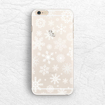 Christmas Snowflakes matte transparent phone case for iPhone 6/6s, Sony Z3 z4, HTC one M9, LG G4, Samsung S6, XMAS Holiday soft case -P65