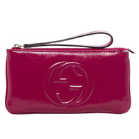 Gucci 'Soho' Fuchsia Patent Leather Wristlet