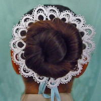 Hair accessories for girls - tatting lace - for ballerinas - for dancing -  bridesmaid